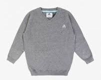 Sweater tejido con insignia bordada